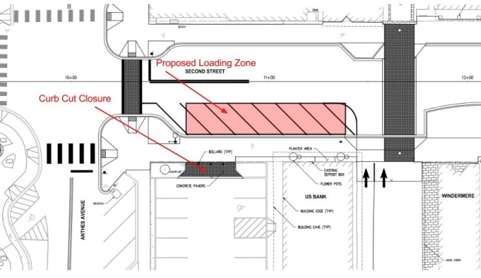 Langley Truck Loading Zone Graphic
